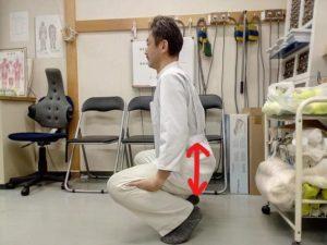 膝のストレッチ2